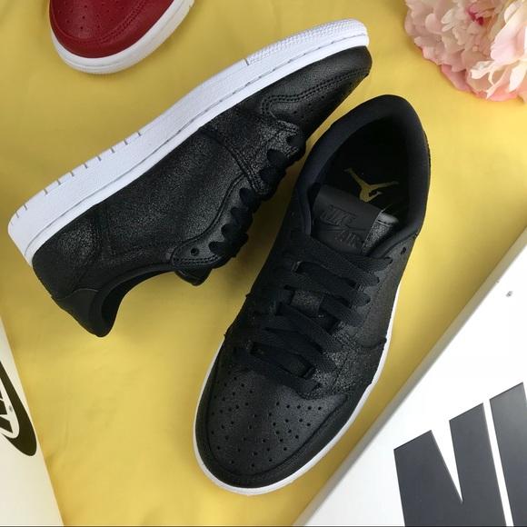 f5110fb3c25ab0 NWT Black Nike Air Jordan 1 Retro Low NS Women